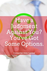 judgment against you options